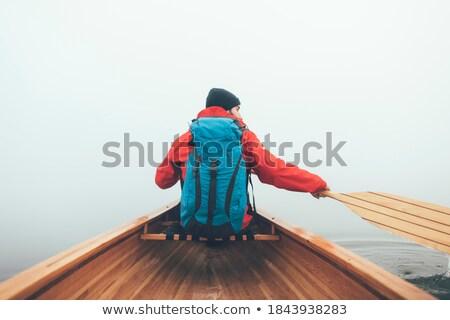 Kayaking in Winter Stock photo © unkreatives