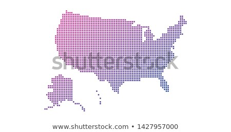 Square Dotted gradient USA map for backgrounds, brochures web. vector illustration isolated on white Stock photo © kyryloff