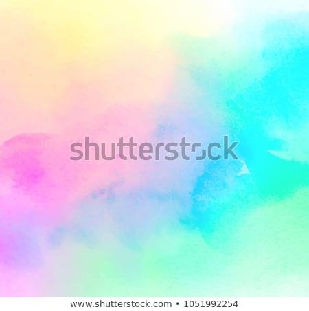 Coral and yellow vivid grunge brushes Stock photo © lunamarina