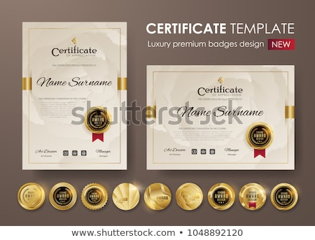 プレミアム 高級 証明書 デザインテンプレート 背景 企業 ストックフォト © SArts