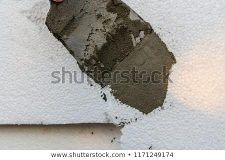Duvar yalıtım işçi inşaat endüstriyel beton Stok fotoğraf © simazoran