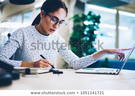 ビジネスマン · 注記 · 日記 · ハンサム · 小さな - ストックフォト © pressmaster