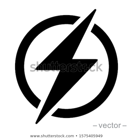 Lightning, electric power vector logo design element. Energy and thunder electricity symbol concept. Stock photo © kyryloff