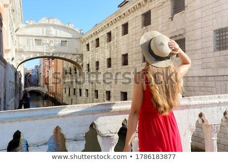 女性 見える 住宅 運河 ヴェネツィア 水 ストックフォト © AndreyPopov