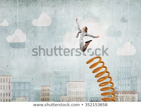Empresária carreira promoção mulher construção gerente Foto stock © Elnur