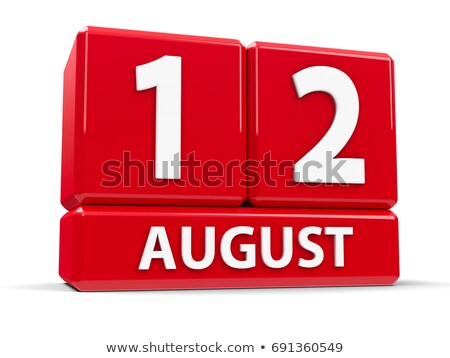 Cubes calendar 12th August Stock photo © Oakozhan