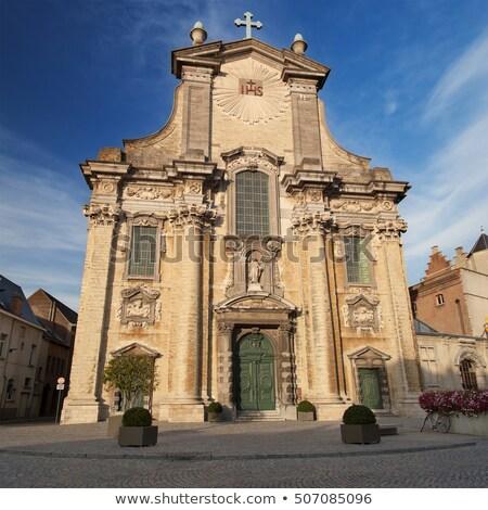 kerk · België · hemel · textuur · klok - stockfoto © borisb17