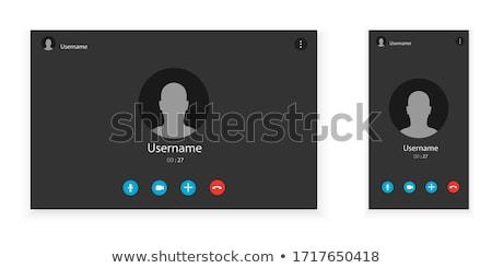 Webinar online conferentie universiteit onderwijs Stockfoto © Decorwithme