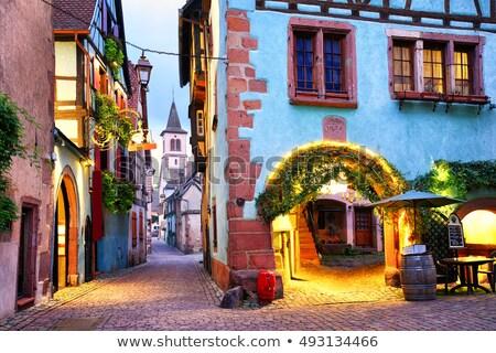 street in Riquewihr, Alsace, France Stock photo © borisb17