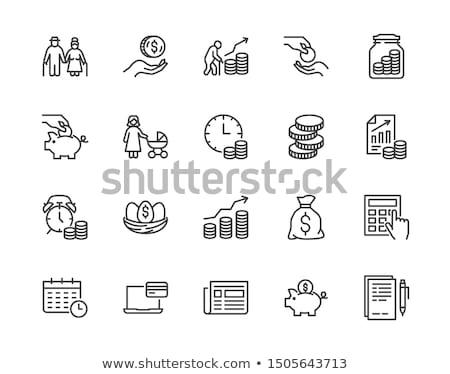 Gerente monedas inversión beneficio vector hombre Foto stock © robuart