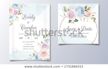 Wedding ceremony invitation card vector templates set Stock photo © Decorwithme