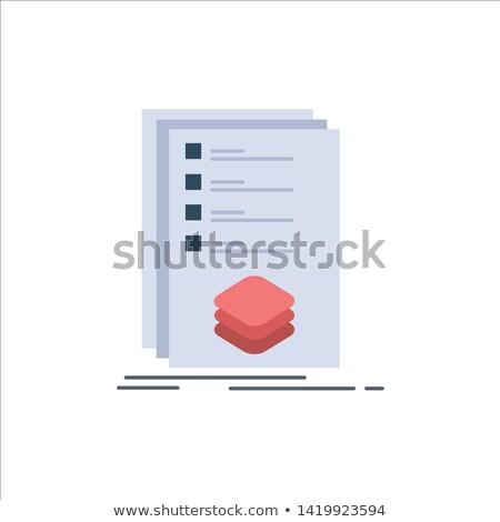Checkbox cor ilustração aprovado Foto stock © barsrsind
