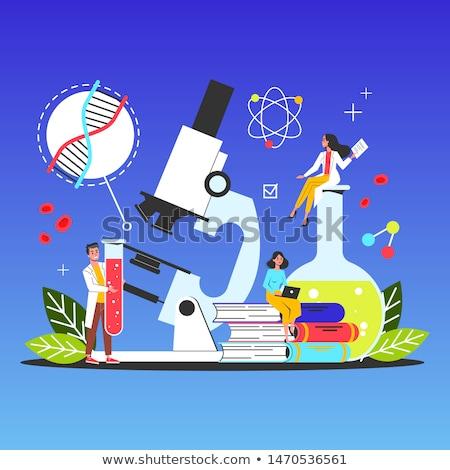Ciência educação linha projeto estilo banners Foto stock © Decorwithme
