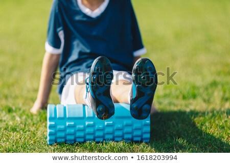 Piana młodych piłkarz piłka nożna szkolenia sportu Zdjęcia stock © matimix