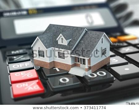 Foto stock: Calcular · hipoteca · taxa · imposto · imóveis · dinheiro