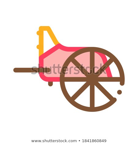 wooden greek wheel icon vector outline illustration Stock photo © pikepicture