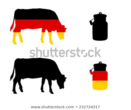 German milk cow Stock photo © Saphira