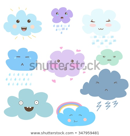 Creativo kawaii pioggia nube Rainbow divertente Foto d'archivio © ussr