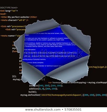 Yırtılmış delik karmaşık program kod hata Stok fotoğraf © evgeny89