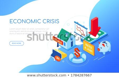 Işsizlik kriz modern renkli izometrik web Stok fotoğraf © Decorwithme