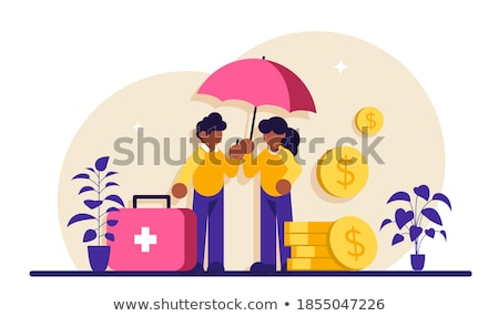Notfall Unterstützung Fonds abstrakten krank Menschen Stock foto © RAStudio