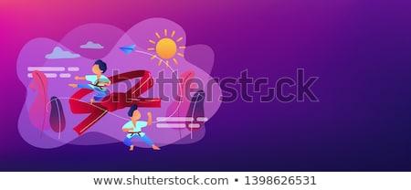 Karate kamp banner jonge Stockfoto © RAStudio