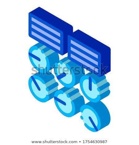 Eau hydraulique génie gare isométrique icône Photo stock © pikepicture