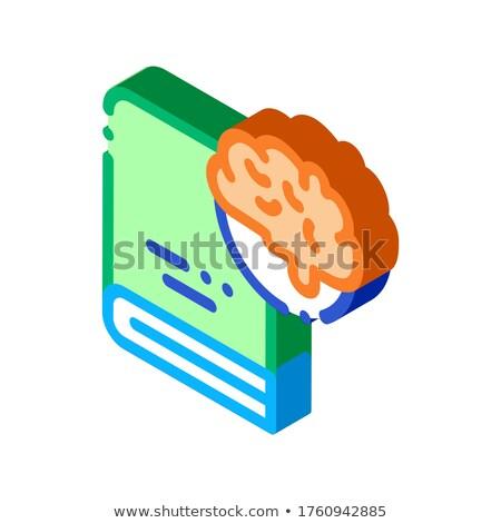 медицинской энциклопедия изометрический икона вектора знак Сток-фото © pikepicture