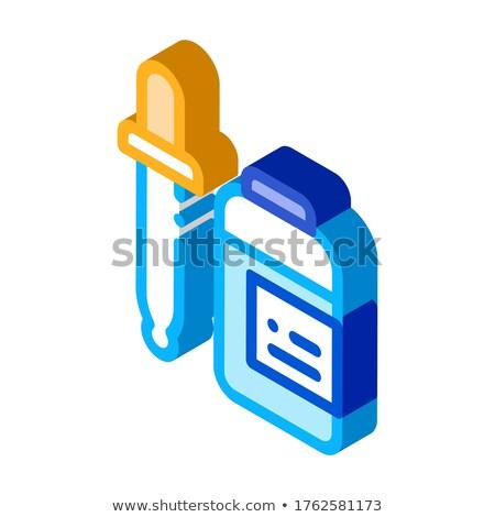 Gyógyszer cseppentő kiegészítők izometrikus ikon vektor Stock fotó © pikepicture