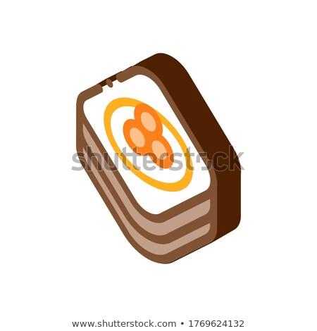 Caviale pancake isometrica icona vettore segno Foto d'archivio © pikepicture