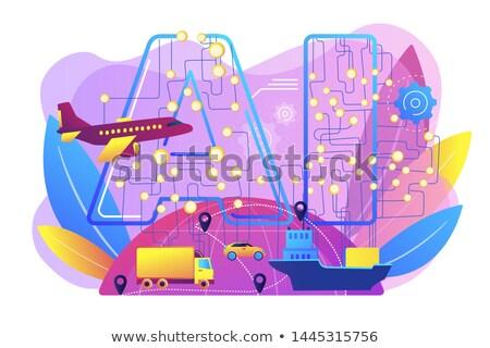 AI in travel and transportation concept vector illustration Stock photo © RAStudio
