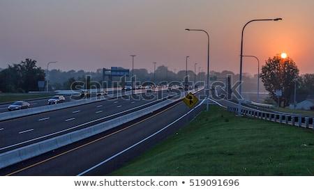 Род-Айленд · шоссе · знак · зеленый · США · облаке · улице - Сток-фото © kbuntu