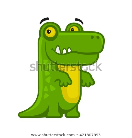 Gator alligator mascotte cartoon afbeelding krokodil Stockfoto © chromaco