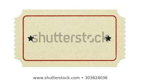 blank tickets Stock photo © cidepix
