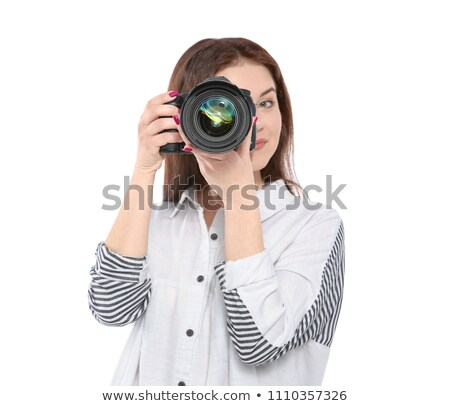 Lenzen witte uitrusting geïsoleerd digitale professionele Stockfoto © angelsimon