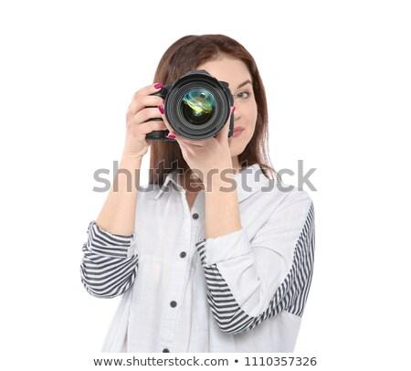 Photographic lenses on white background. Stock photo © angelsimon