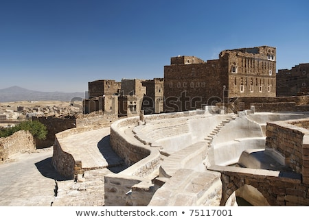 traditional village cistern near sanaa yemen stock photo © travelphotography