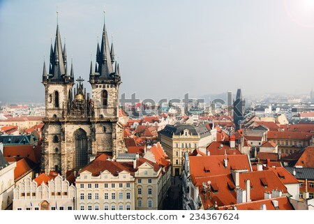 Famoso iglesia Praga detalle barroco catedral Foto stock © CaptureLight