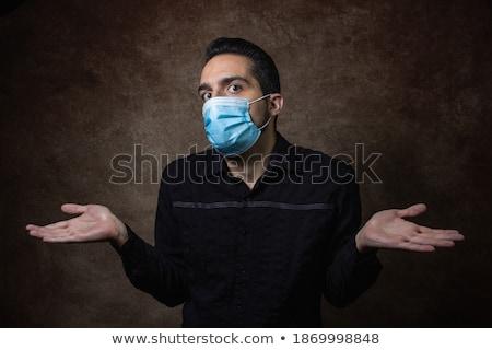 удивленный человека беспомощный жест лице крест Сток-фото © Paha_L