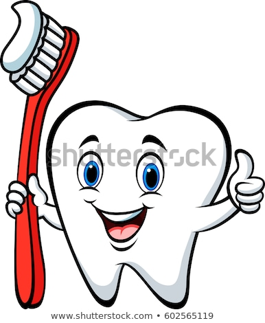 Cartoon · diente · cute · cepillo · de · dientes · feliz - foto stock © hermione