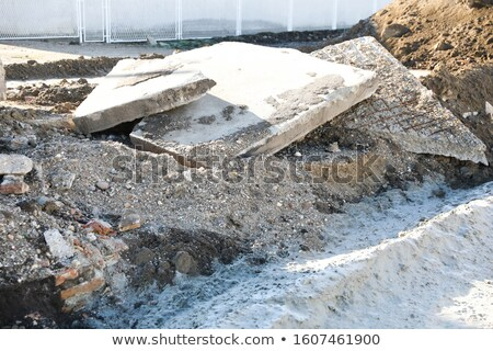 factory demolition stone stack of rubble Stock photo © Melvin07