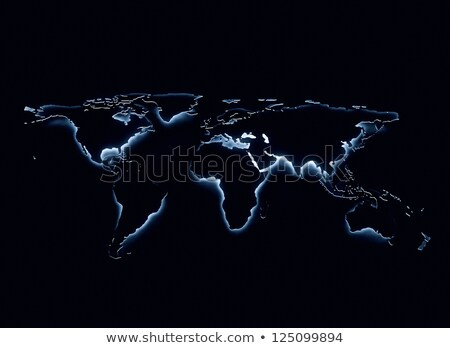 Dünya siyah Amerika Avrupa harita kalem Stok fotoğraf © fenton