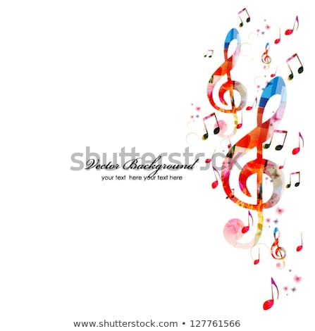 abstract musical background with piano stock photo © pathakdesigner