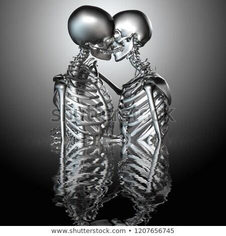 Cyborg menselijke skelet android super hoog Stockfoto © eyeidea