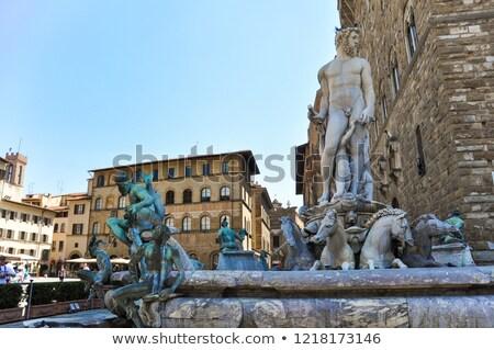 噴水 · フィレンツェ · イタリア · 水 · 馬 · 像 - ストックフォト © aladin66