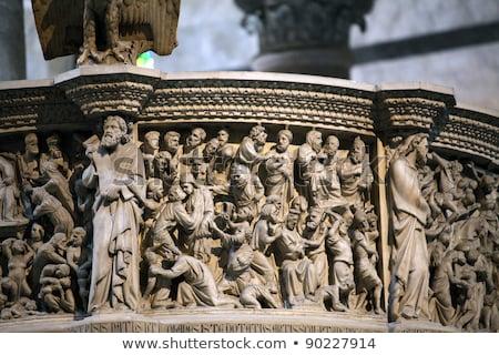 Pisa - Duomo interior.  Pulpit by Giovanni Pisano Stock photo © wjarek