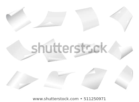 Blank Sheet of Paper with Curved Corner Stock photo © -TAlex-