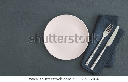 Empty copy space circle in set of knives and forks Stock photo © designsstock