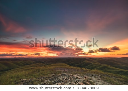 Stock photo: Mountains sunset landscape