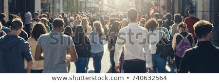 толпа люди политический демонстрация коммерческих семьи Сток-фото © xedos45